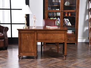 北美进口红橡 嘉宝莉环保漆 简美风格 塔科马真皮办公椅