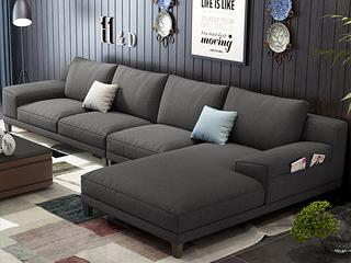 【】X8001 (1位+3位+左贵妃) 北欧风格 麻布面料 多种配色 百搭沙发套装