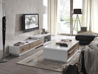 优质钢化玻璃面 现代时尚可拉伸白色电视柜