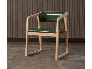 北欧宜家 实木皮艺餐椅1张