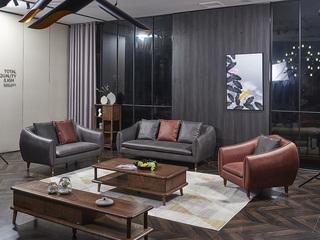 非色 意式轻奢风格 北美进口白蜡木系列 坐垫/靠背优质海棉填充 透气性强 沙发组合(1+2+3)