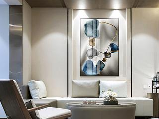 现代客厅装饰画卧室客厅玄关壁画酒店别墅挂画喷绘铝合金画