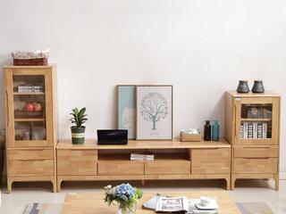 北欧风格 原木色 实木 1米 矮边柜