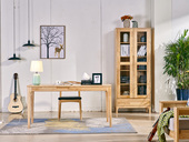 荣之鼎 北欧风格 原木色 实木 1.2米 书桌