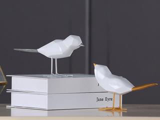 树脂两件套小鸟摆件(包邮)