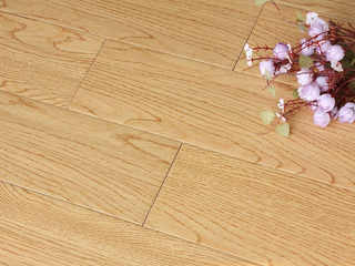 实木仿古白橡木纹实木地板