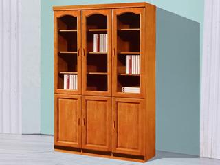 柚木色三门书柜