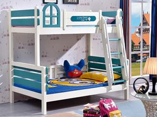 绿白下床1.43*1.92米 上床1.13*1.92米 挂梯子母床