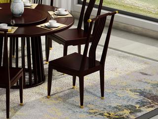 金丝檀木实木 栏栅式设计 新中式餐椅