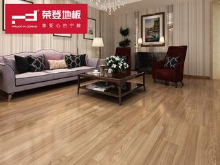 (物流点送货入户+安装含辅料)仿实木强化地板 复合木地板12mm 廊桥印橡 环保地板 YJ002 厂家直销