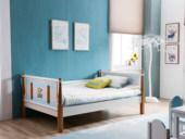 榕瀚 地中海实木儿童床506# 1.2米单床(不含书柜)