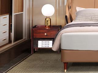 新中式轻奢 非洲乌金木KD201床头柜