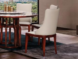 中式休闲系列KY605皮艺餐椅