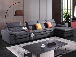 现代简约891布艺功能沙发 转角沙发1+2+贵妃