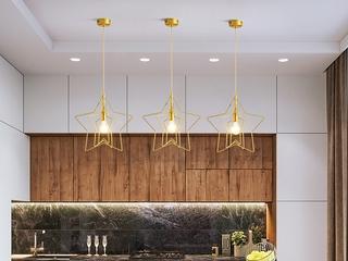 北欧风格 铁艺电镀8004-1餐吊灯(含E27矮泡暖光5W)