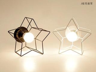 北欧风格 铁艺灯罩1840-1白色吸顶灯(含E27龙珠泡白光7W)图片右侧