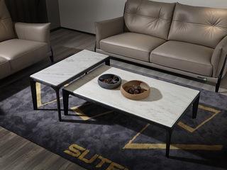 意式极简沙发 1805B罗宾 皮艺双人沙发