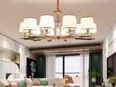 领秀照明 简欧 玻璃+S金2702-10金色吊灯(含E14尖泡7W暖光)