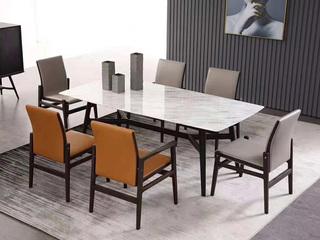 极简SQ-2长方形餐台 白色大理石餐桌