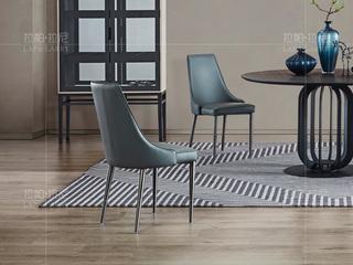 极简系列 拉丝不锈钢 PVC灰色餐椅
