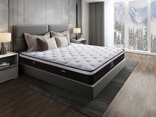 侯爵B款 9区独立袋装弹簧 天然东南亚进口乳胶床垫 高棉纳米针织面料 软硬两用床垫 1.8*2.0米可定制床垫