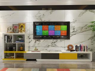 现代简约 彩色书柜