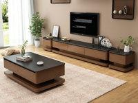 米勒 現代簡約 胡桃色電視柜(不含邊柜)