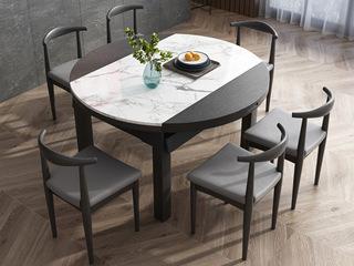 现代简约 1.35米 黑色 大理石餐桌