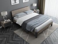 藝家 1.5*2.0米實木排骨架床 簡約款