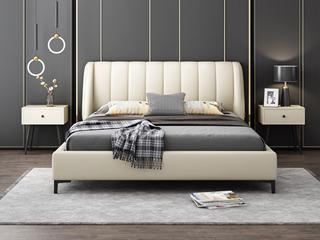 轻奢风格 米白色皮 豪华款1.8*2.0米床