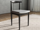 米勒 现代简约 细纹餐椅 黑+灰色餐椅(单把价格 需双数购买 单数不发货)