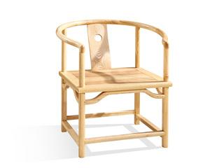 中式风格 北美进口白蜡木圈椅