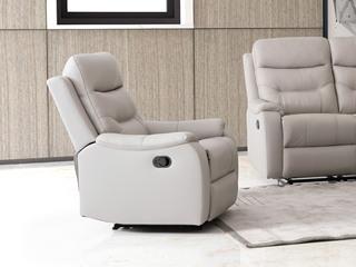 【江浙沪包邮】 现代极简 单人位手动款沙发(米色)