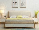 北欧印象 北欧风格 泰国进口橡胶木1.8米实木床