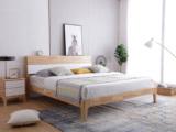 北欧印象 北欧风格 泰国进口橡胶木1.5米实木床