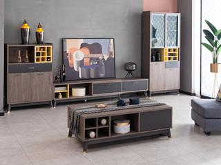 现代简约 高级灰 电视柜(不含边柜)