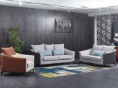 芬洛 現代簡約 優質細麻 彈簧底坐 沙發組合(1+2+3)