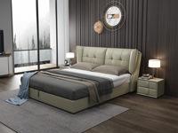 皮坊工藝 現代簡約 C025 1.8米 青灰色皮藝床