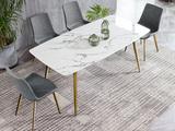 斐亚家居 轻奢风格 大理石 1.4米长餐桌