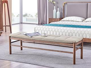 北欧风格 北美进口白蜡木 1.6米床尾凳