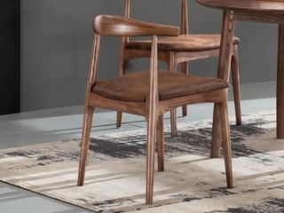 北欧风格 北美进口白蜡木 牛角椅(单把价格 需双数购买 单数需增加打包费用)