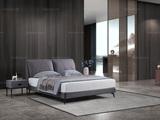 洛林菲勒 极简风格 科技布 碳素钢 实木排骨架 1.8*2.0米床