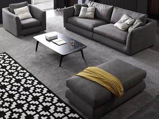 极简风格 科技布+乳胶颗粒 实木底框架 双扶单位沙发