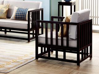 新中式 东南亚进口红檀木 真丝靠包 K901 单位沙发