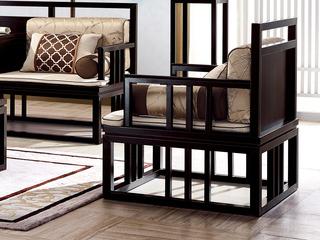 新中式 东南亚进口红檀木 真丝靠包 K903 单位沙发