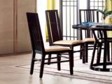 墨舍 新中式 东南亚进口红檀木 真皮C951 餐椅
