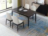 米勒 轻奢 玫瑰金不锈钢 岩板1.3米餐桌