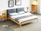 慕森 北欧风格 榉木主材坚固框架 原木色 1.8*2.0米床