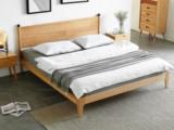 慕森 北欧风格 榉木主材坚固框架 原木色 1.5*2.0米床