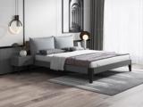 艺家 北欧风格 实木框架 高密度海绵 浅灰布靠背 1.8m床
